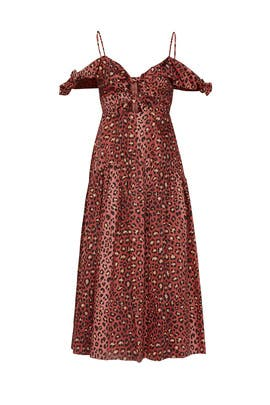Leopard Bow Dress by Rebecca Taylor