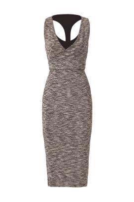 Grey Melange Wrap Dress by ST by Olcay Gulsen