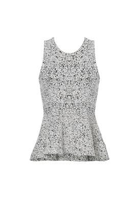 Grey Colisha Peplum Top by Theory
