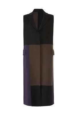 Patchwork Long Vest by Victor Alfaro