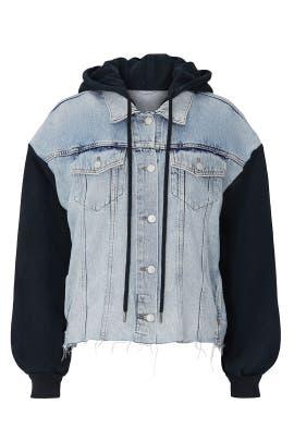 Milena Denim Hooded Jacket by AllSaints