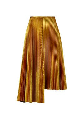 Golden Sky Pleated Skirt by Cedric Charlier