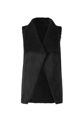 Black Don Faux Fur Vest by cupcakes and cashmere