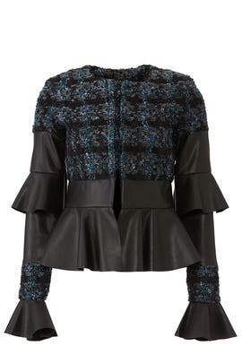 Ohio Faux Leather Tweed Jacket by Deborah Lyons
