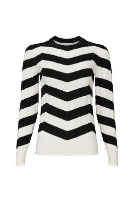 Ribbed Chevron Sweater by Derek Lam Collective