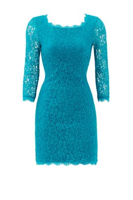 Teal Zarita Dress by Diane von Furstenberg