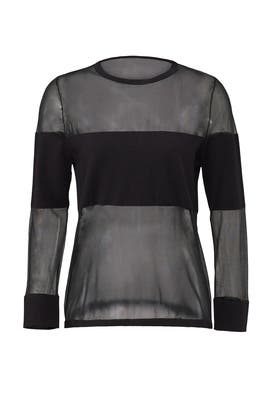 Black Reality Mesh Top by FINDERS KEEPERS