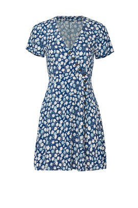 Floral Button Wrap Dress by Madewell