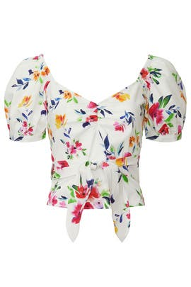 Puff Sleeve Floral Top by Marissa Webb Collective