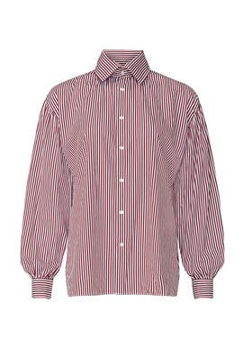 Red Striped Button Up  by Polo Ralph Lauren