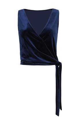 Navy Velvet Tie Top by Slate & Willow