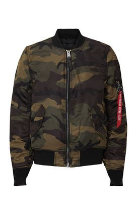 Camo MA-1 Bomber Jacket by Alpha Industries