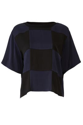 Nova Oversized Check Top by Cynthia Rowley
