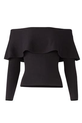Black Popover Sweater by cupcakes and cashmere