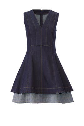 Denim Fit And Flare Dress by Derek Lam 10 Crosby