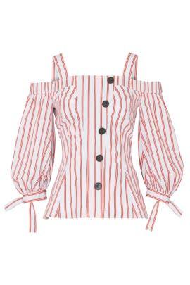 Buttoned Bell Sleeve Top by Derek Lam 10 Crosby