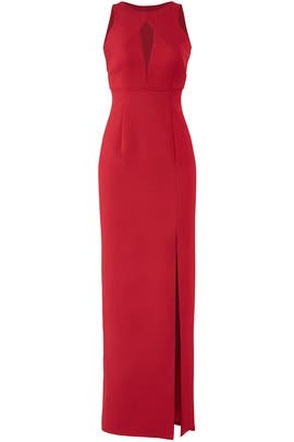 Keyhole Column Gown by JS Collection