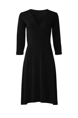 The Perfect Black Wrap Dress by Leota