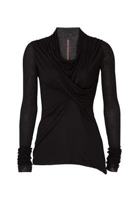 Black Cowl Neck Top by RICKOWENSLILIES