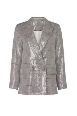 Plaid Sequin Blazer by Waverly Grey