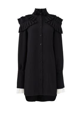 Black Ruffle Shirtdress by ADEAM