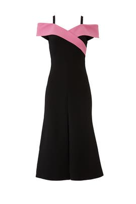 Crossover Midi Dress by Christian Siriano