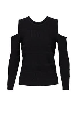 Black Cold Shoulder Sweater by Nicole Miller