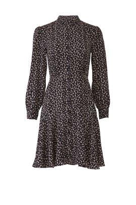 Long Sleeve Mini Cheetah Dress by Rebecca Taylor