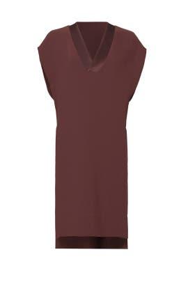 Burgundy Sheen Trim Dress by VINCE.