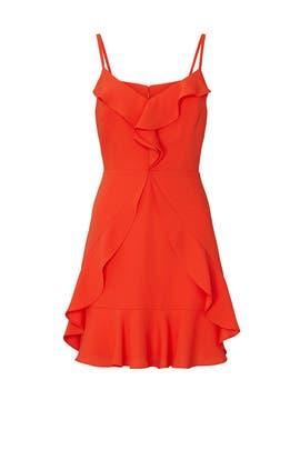 Ruffle Hem Mini Dress by BCBGMAXAZRIA