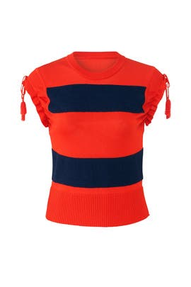 Retro Rugby Knit Top by Carven