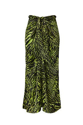 Green Printed Skirt by GANNI