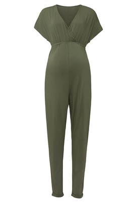 Cross Front Maternity Jumpsuit by Ingrid & Isabel