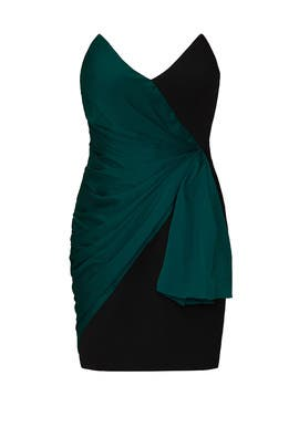Teal Strapless Mini Dress by Jill Jill Stuart