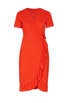 Frill Wrap Dress by LOST INK