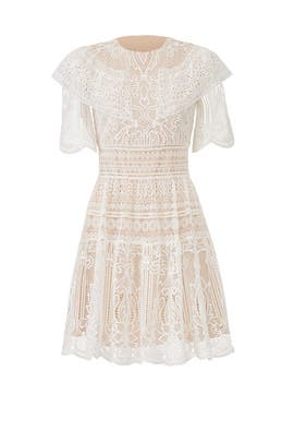 White Lace Dress by ML Monique Lhuillier