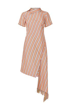 Striped Deconstructed Dress by MONSE