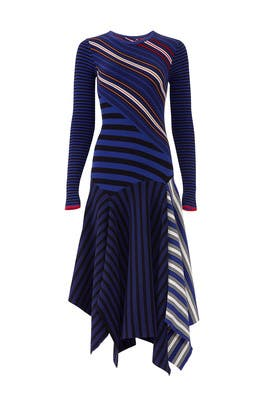 Striped Long Sleeve Dress by Opening Ceremony