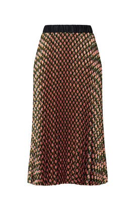 Printed Pleated Midi Skirt by Scotch & Soda