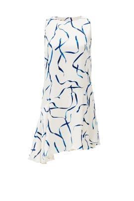 Blue Ribbon Asymmetrical Shift by STYLESTALKER