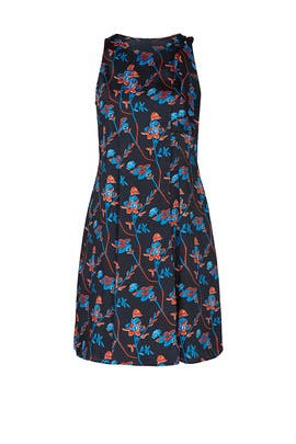 Black Daisy Printed Dress by Thakoon Collective
