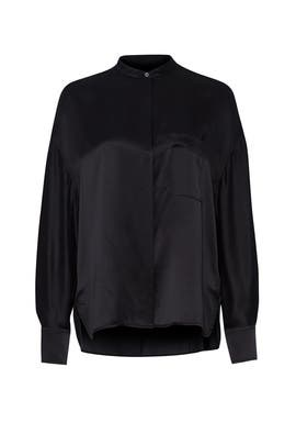 Satin Pocket Blouse by VINCE.