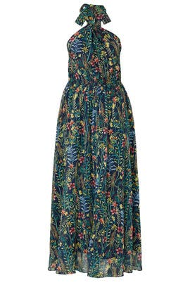 Floral Plaid Halter Maxi by Jason Wu x ELOQUII