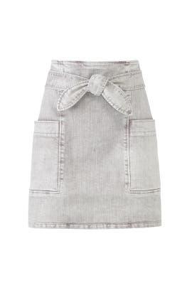 Grey Denim Tie Skirt by La Vie Rebecca Taylor