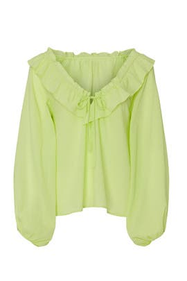 Citron Ruffle Blouse by Love, Whit by Whitney Port