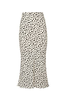Leopard Print Midi Skirt by Moon River