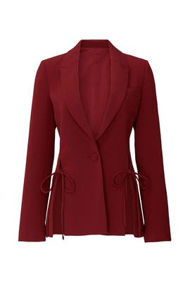 Red Tie Blazer by Prabal Gurung Collective
