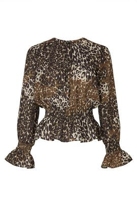 Animal Print Peasant Top by Victor Alfaro Collective