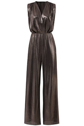 Metallic Gunnar Jumpsuit by Amanda Uprichard