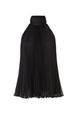 Black Pleated Top by Carmen Marc Valvo